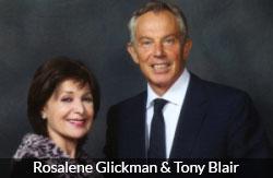 rosalene glickman with Tony Blair