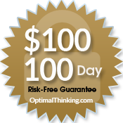 $100 100 day money back guarantee