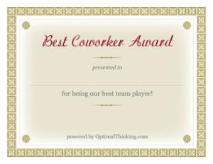 best team player award